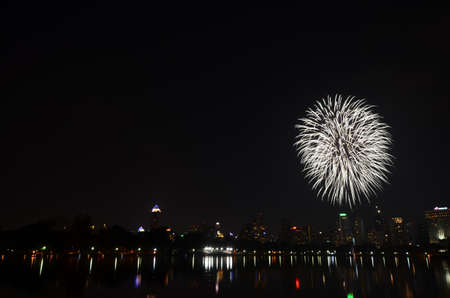 Fireworks in Bangkok, Thailand Stock Photo - 17083700