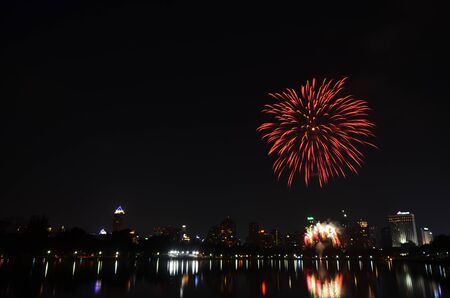 Fireworks in Bangkok, Thailand photo