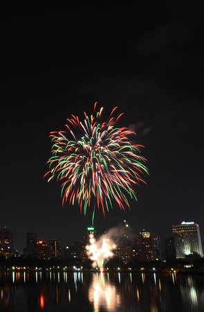 Fireworks in Bangkok, Thailand Stock Photo - 17083691