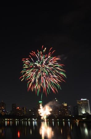 Fireworks in Bangkok, Thailand Stock Photo - 17083691