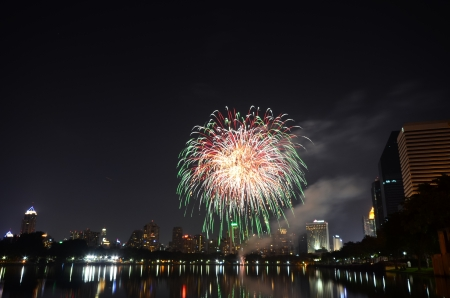 Fireworks in Bangkok, Thailand Stock Photo - 17083716
