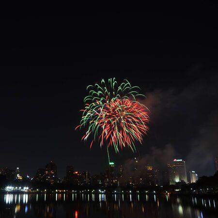 Fireworks in Bangkok, Thailand Stock Photo - 17083688