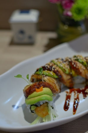 Sushi Roll with avocado photo