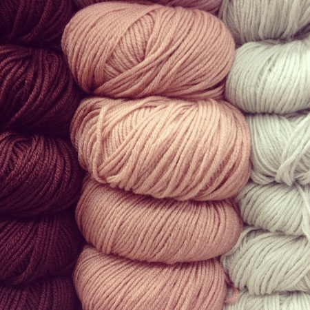 earth tone: Earth tone knitting wool Stock Photo