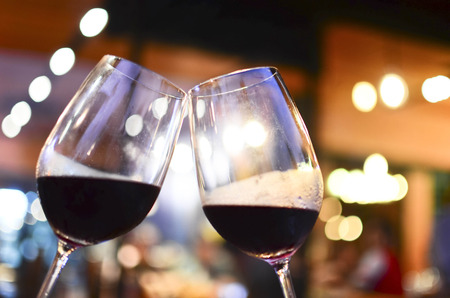 Two glasses of red wine Stock Photo - 30253913
