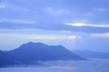 Mountain in the mist photo