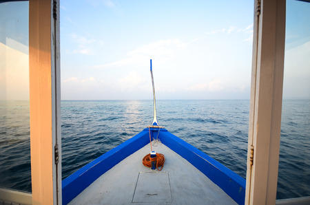 Boat in the sea photo