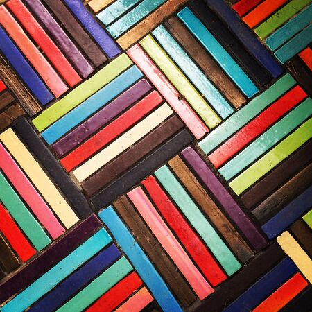 mosaic floor: Colourful mosaic floor Stock Photo