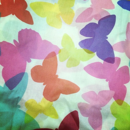 seamless: Colourful butterfly background