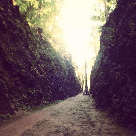 long way: Long way in the mountain Stock Photo