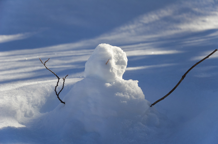A snowman in the park