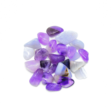 Purple stones isolated Banco de Imagens