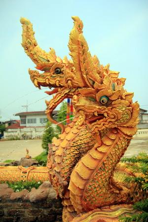 northeastern: king of Naga at Wat Phra That Choeng Chum in Sakonnakorn province,northeastern of Thailand