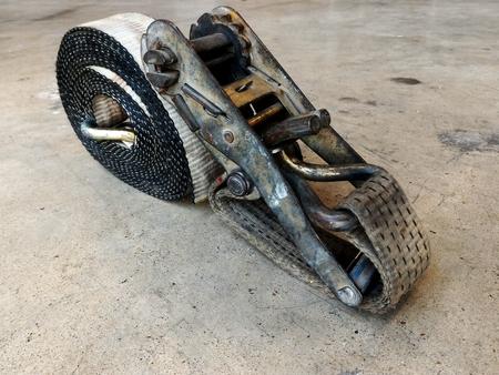 duty belt: detail dirty old straps truck