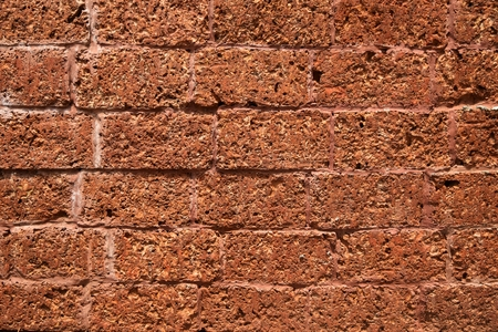 detail surface laterite wall for background Stock Photo