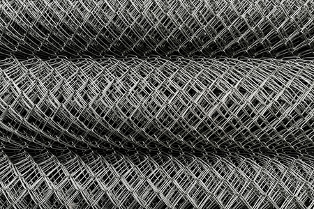 high angle view roll of metal net for background Stock Photo