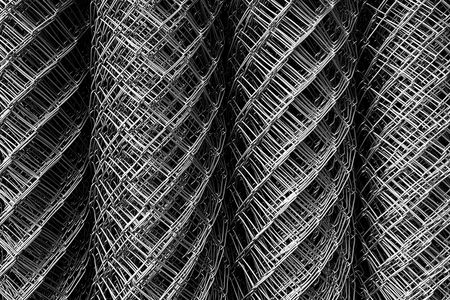 high angle view roll of metal net for background Фото со стока