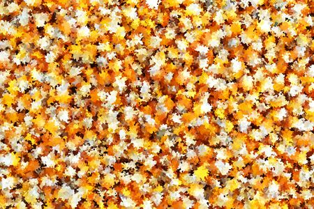 lots orange and white circle for impressionistic abstract background Zdjęcie Seryjne