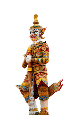 Then Vaiśravaṇa Most of us have seen the appearance of a giant holding a long baton. photo