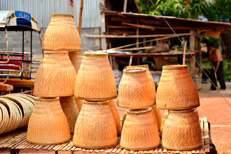 siamensis: Thai bamboo steamer, earthenware steamer Stock Photo