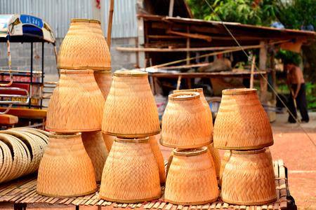 siamensis: Thai bamboo steamer, earthenware steamer Stock Photo