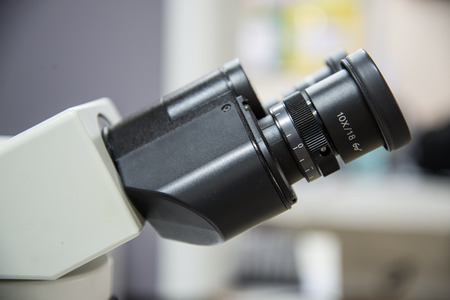 forensic medicine: Microscope Stock Photo
