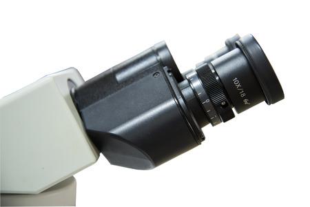 microscope isolated: microscope isolated on white background. Stock Photo