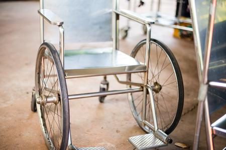 horrific: Wheelchair in hospital.