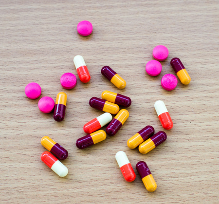 diferent: diferent Tablets pills capsule heap mix therapy drugs doctor flu antibiotic pharmacy medicine medical