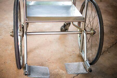 md: Wheelchair in hospital.