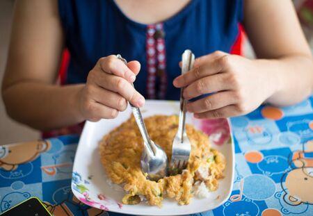 petoncle: pétoncle omelette Banque d'images