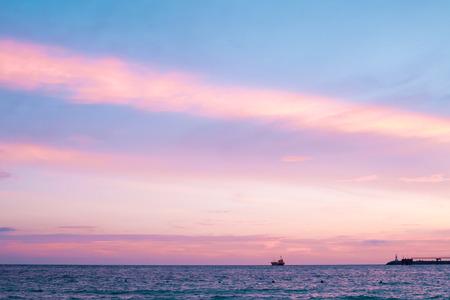 pink sunset: pink sunset. Stock Photo