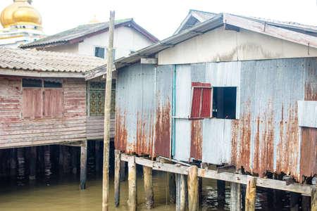 panyi: Dusk in the Koh Panyi Muslim fishing village in the Pang Nga bay, Thailand