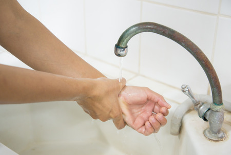 handwashing: Global Handwashing Day (GHD) is a campaign to motivate and mobilize people around the world to improve their handwashing habits by washing their hands with soap at critical moments throughout each day. It takes place on October 15 of each year.systematic  Stock Photo