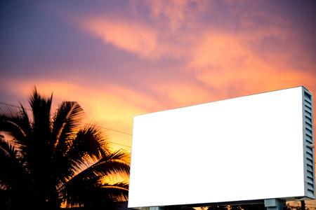 hyperspace: Blank billboard against  sky,