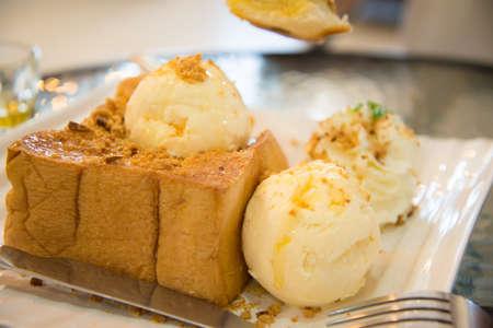 toasted: honey Toasted Stock Photo