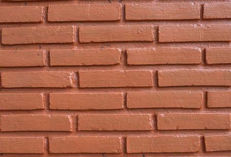 granulation: Red brick wall Stock Photo