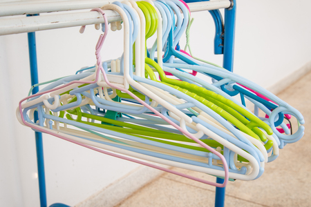 hangers: coat hangers Stock Photo