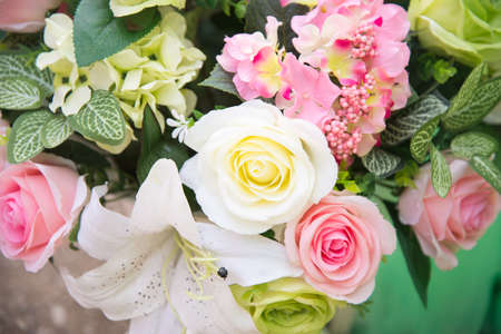beautiful rose: Bunch of flowers in weddng concept.