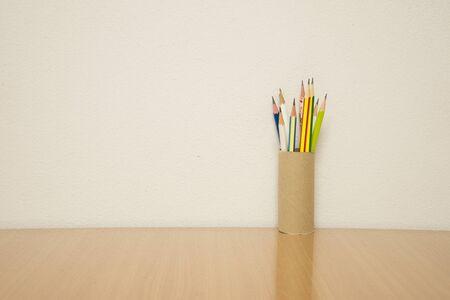 still: Still Life With Pencils Stock Photo
