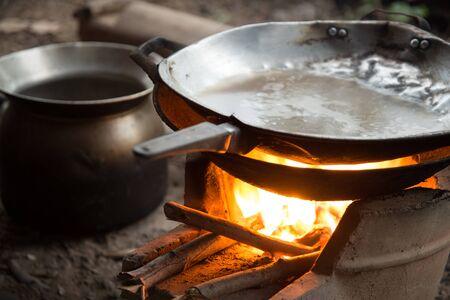 evaporate: Thai stove kitchen cooking tool Stock Photo