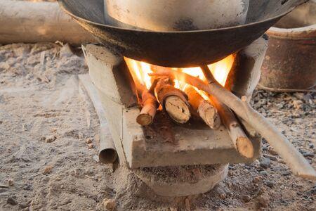Thai stove kitchen cooking tool Stock Photo