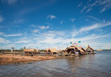 thailand bamboo: bamboo rafting in thailand