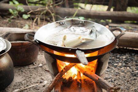 evaporating: Thai stove kitchen cooking tool Stock Photo