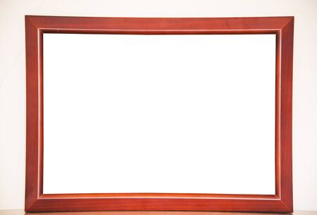 marco madera: Marco de madera de la vendimia Foto de archivo