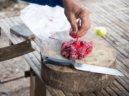 butcher s shop: Fresh Raw Meat in cooking