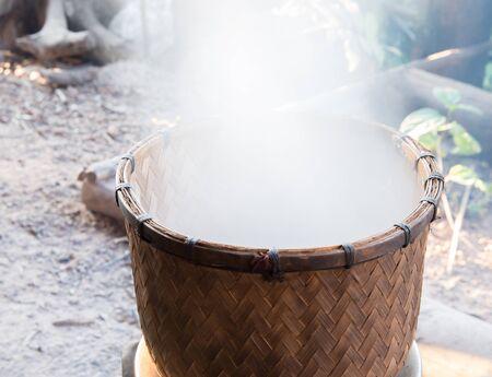 evaporating: rice cook Stock Photo