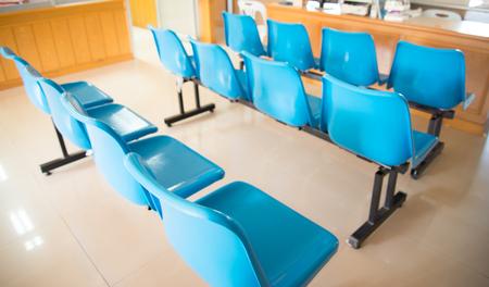 ambulatory: blurred chair in waiting room hoapital.