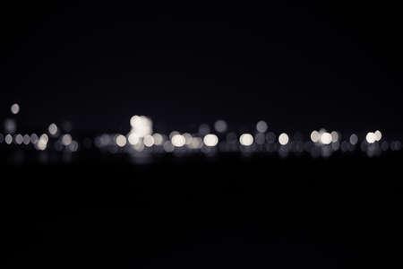 de focused: de focused bokeh lights. Stock Photo