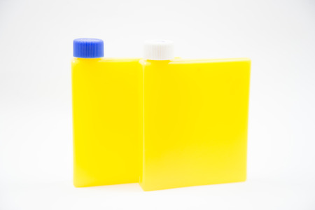 triglycerides: reagent bottle on a white background.